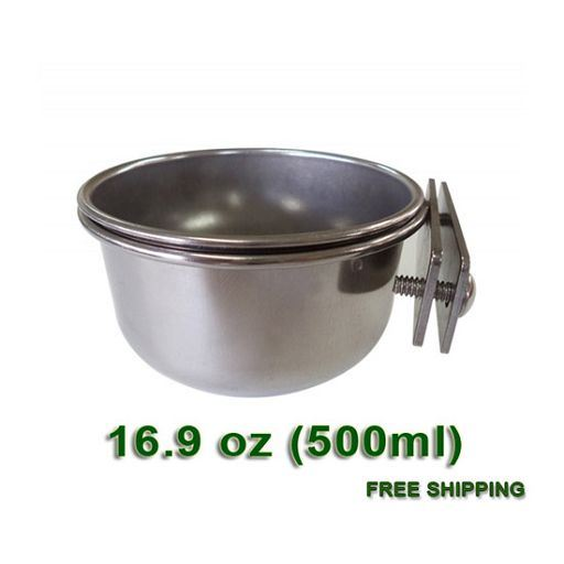 Stainless Steel coop cup for cages - S size