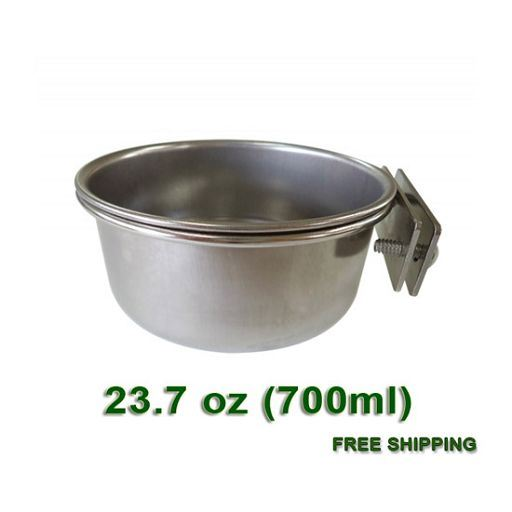 Stainless Steel coop cup for cages - L size